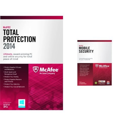 Bundle: McAfee Total Protection 3PC 2014 and Mobile Security Suite 2014 (Mcafee Total Protection 3pc)