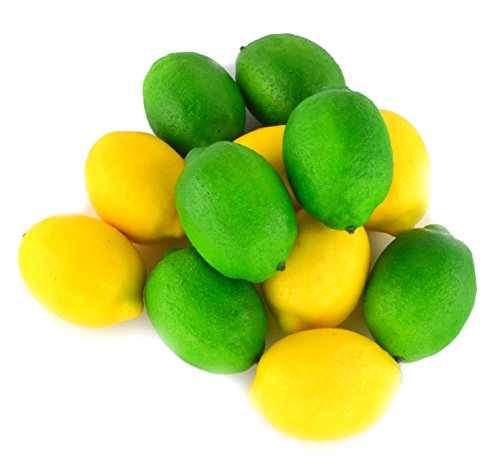 SAMYO Fake Fruit Lemon Simulation Artificial Lifelike Lemon for Home House Kitchen Wedding Party Decoration Photography 12pcs Set (Yellow & Green) by SAMYO