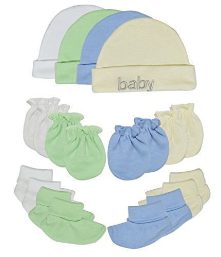a2aaa698880 Songbai Baby Gift Set 100% Cotton Caps Socks and Mittens For Newborn Boys  Girls (Newborn