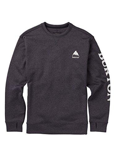 - Burton Men's Oak Crew Sweatshirt, True Black Heather W19, X-Large