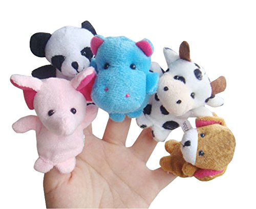 Elevin(TM) 10pcs Animal Finger Puppet Plush Child Baby Early Education Toys Gift