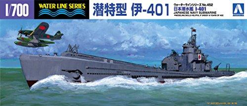 - Aoshima 1/700 IJN Submarine I-401 (Waterline Hull)