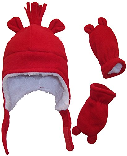 nice-caps-boys-sherpa-lined-micro-fleece-hat-and-mitten-set-with-ears-3-6-months-infant-red