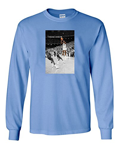 Michael Jordan North Carolina Jersey (The Silo LONG SLEEVE Blue Jordan UNC