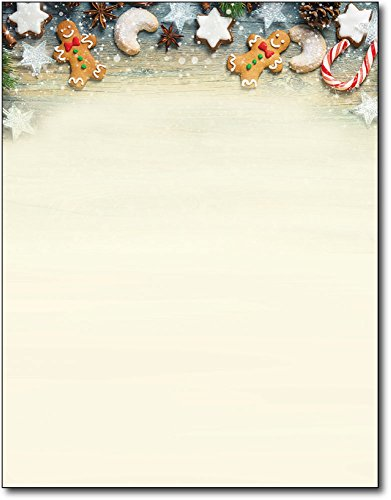 Cookie Exchange Christmas Holiday Letterhead Paper - 80 Sheets -