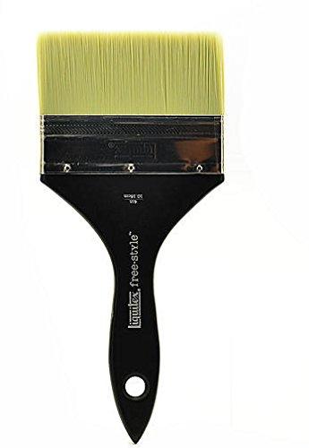 Flat Varnish Brush (Liquitex Free-Style Large Scale Brushes (Broad Flat/Varnish) - 4 In. (Short Handle) 1 pcs sku# 1832672MA)