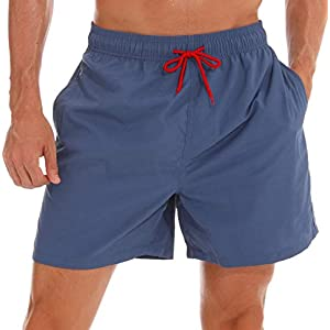 SILKWORLD Men's Swim Trunks Quick Dry Beach Shorts with Pockets