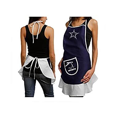 Hostess Apron - NFL - Dallas Cowboys - Team Logo Kitchen Home Outdoor Indoor BBQ Picnic Woman Lady Girl