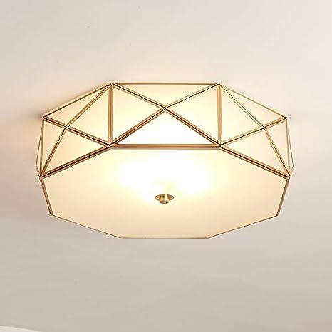 La iluminación casera del cobre de las luces de techo E27 ...
