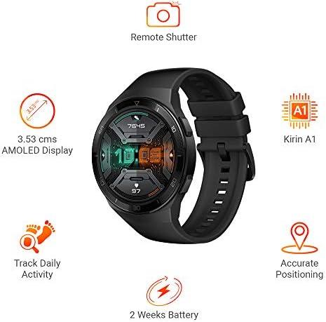 "Huawei Watch GT 2e - Reloj Inteligente ultra-slim, Pantalla de 1.39"" AMOLED, Batería hasta por 2 semanas, Bluetooth, Negro 4"