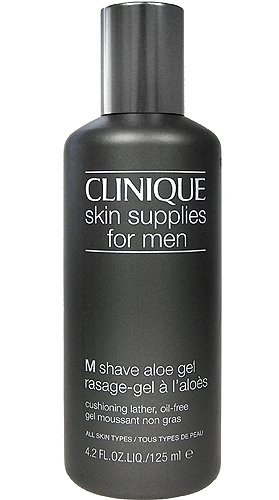 Men Aloe (Clinique Skin Supplies for Men M Shave Aloe Gel 125ml/4.2oz - All Skin Types)