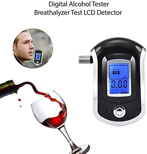 Professional Digital Police LCD Breathalyser Analyzer Breath Alcohol Testers CDE