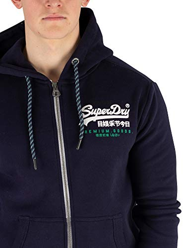 Racer Sweat Superdry Goods Premium Bleu Zip À Homme Capuche rYqwRnx5zq