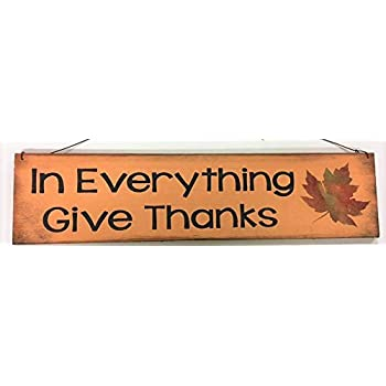 Primitive Sign Stencil Give Thanks Fall Leaf Autum Thanksgiving