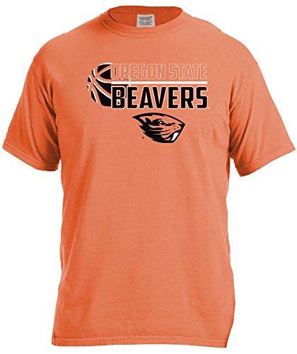 NCAA Oregon State Beavers Basketball Logo Short Sleeve Comfort Color Tee, X-Large,BurntOrange - Oregon State Basketball