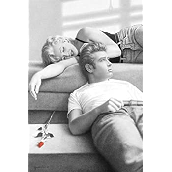 James Dean & Marilyn Monroe (Rose) Movie Poster Print - 22.25x36