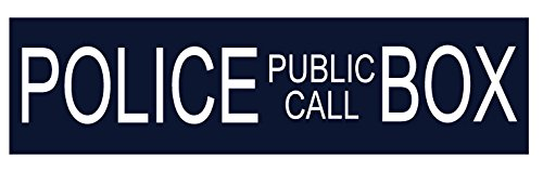 (HumperBumper.com CAR Magnet : Police Public Call Box (Dr. Who: Tardis Sign) - 2.75