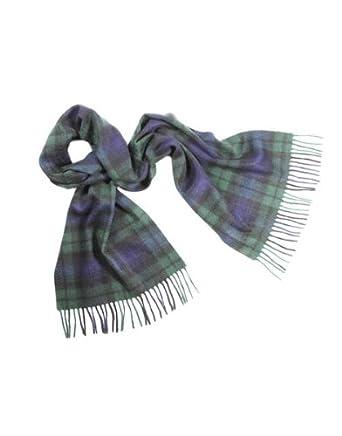 Lona Scott – Pur cachemire Écharpe – écossais Tartans - Noir - 160 x 30 cm 80f501b5cc6