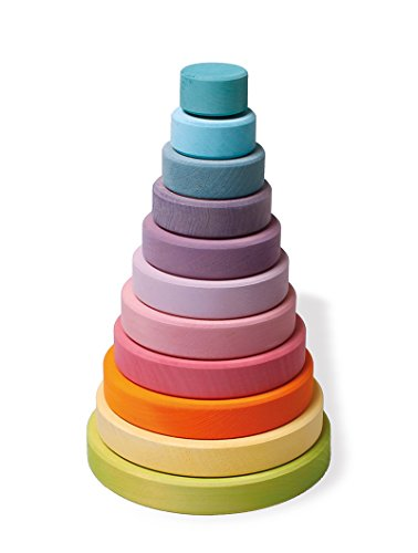 Grimm's Large Conical Stacking Tower - Pastel by Grimm's Spiel and Holz Design (Image #1)