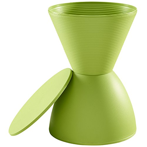 Modway Haste Contemporary Modern Hourglass Accent Stool in Green