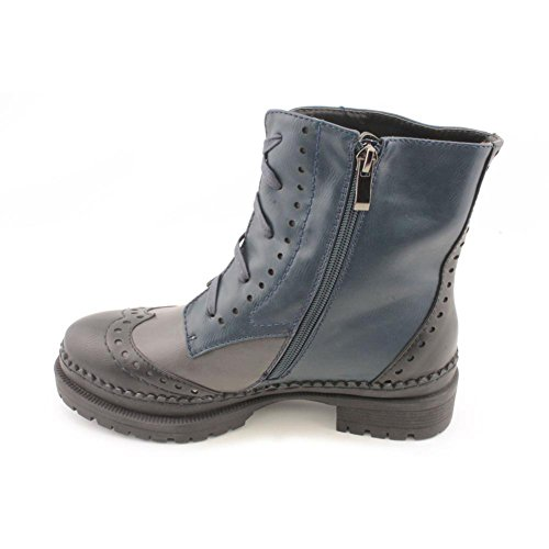 Ankle Shoes Cap Boot Toe Tip Wing Wanted Harper Women's Blue Lug ZP7O0wq