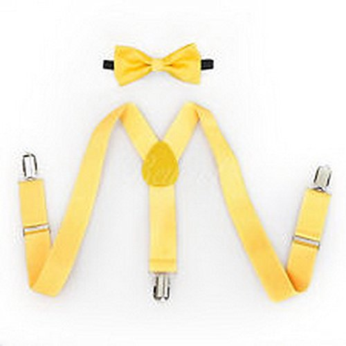 Scott Allah design - Accessories Yellow Suspender and Bow Tie Set for Baby Toddler Kids Girls Boys (Suspenders Batman Toddler)