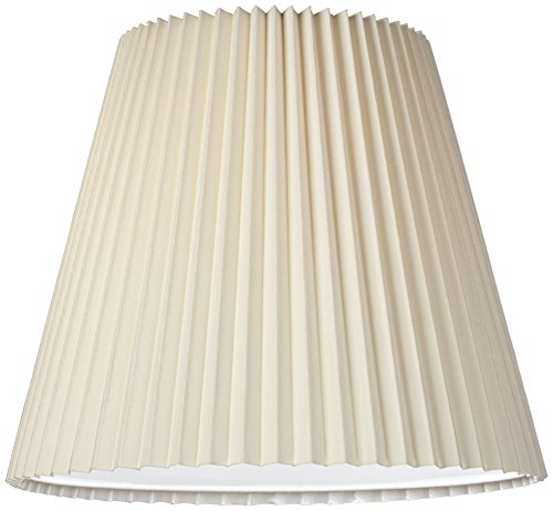 Ivory Pleated Shade 10x17x14.75 (Spider) by Brentwood (Image #1)