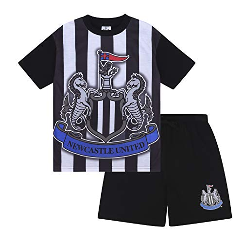 - Newcastle United FC Official Gift Boys Sublimation Short Pajamas 2-3 Years White