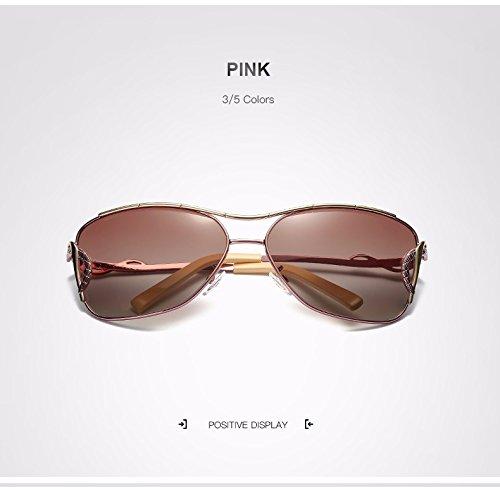 Gafas Moda Sol de Marco de Ojo Sol de de de Sol Adultos de XZP Gafas Gafas Sol Metal de Gafas de para de Mujer para Gato Pink de de UV400 Sol Vintage Espejo Gafas Sol de Grande Sol Polaroid Gafas gOvqdwv1