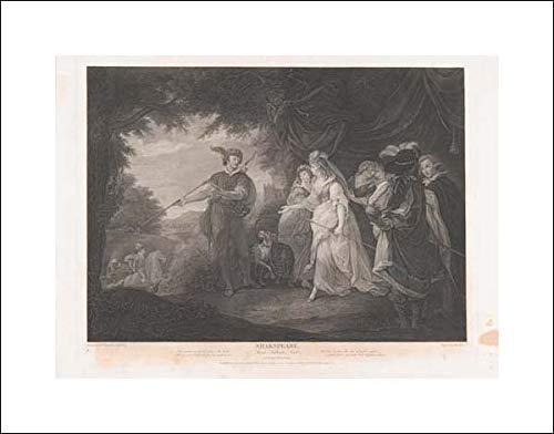 John & Josiah Boydell - 20x16 Art Print by Museum Prints - The Princess, Rosaline, etc. (Shakespeare, Love's Labour Lost, Act 4, Scene 1)