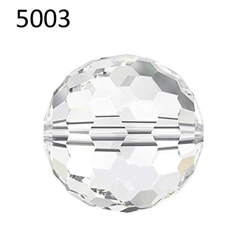 (Calvas (1 Piece) 6mm 8mm 10mm Crystal from Swarovski 5003 Disco Ball Beads Made in Austria Loose Beads Rhinestone DIY Jewelry Making - (Color: Crystal (001), Item Diameter: 10mm-5003))