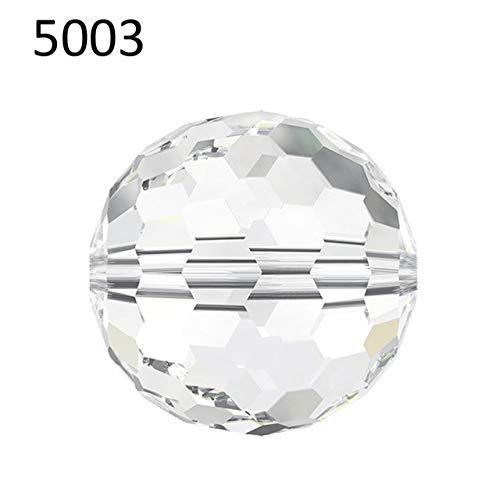 Calvas (1 Piece) 6mm 8mm 10mm Crystal from Swarovski 5003 Disco Ball Beads Made in Austria Loose Beads Rhinestone DIY Jewelry Making - (Color: Crystal (001), Item Diameter: 10mm-5003)