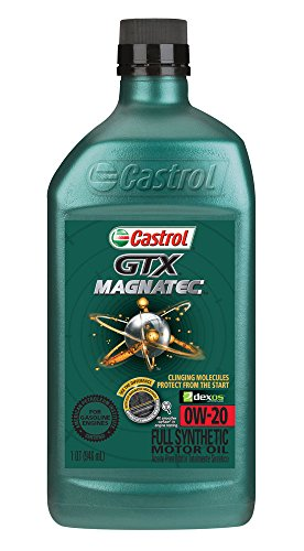Castrol 06006 GTX MAGNATEC 0W-20 Full Synthetic Motor Oil, 1 Quart, 6 (0w 20 Synthetic Oil)