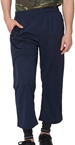 ハーフパンツ ドライ 無地 7分丈 ジャージ ポケット付 UVカット 4.4oz メンズ ネイビー 5L