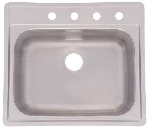 (Kindred SSK104NB Single Bowl Topmount Stainless Steel Sink, 21.5 x 22 Inch)