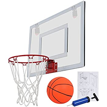 F2C Over The Door Wall Mount Indoor 9.5  Mini Basketball Hoop Net Goal Set with 5.5  Ball Ball Pump 23 X 16  Backboard Basketball Toy Game Home Office ...  sc 1 st  Amazon.com & Amazon.com : Spalding NBA Slam Jam Over-The-Door Mini Basketball ...