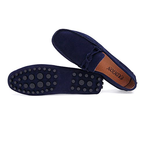 pelle pelle Marina da Suture da Militare Mocassini Scarpe Slip Fashion Mocassini vera MUS Shoes in da Nhatycir Business alla scamosciata Fino 11 uomo Handwork on Mocassini guida taglia barca Flat 8wtqfP