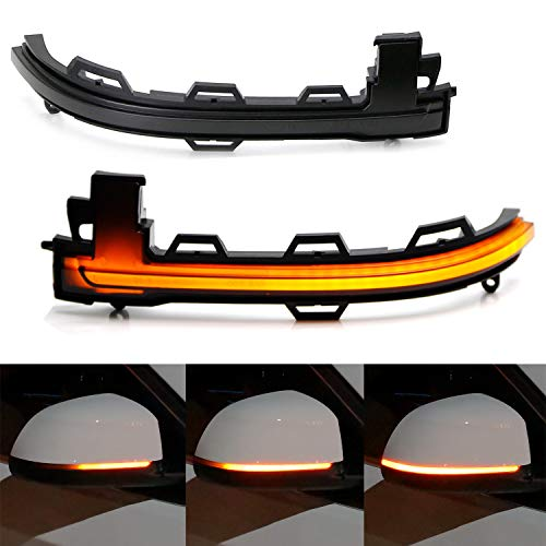 iJDMTOY Smoked Lens Dynamic Sequential Blink LED Side Mirror Turn Signal Light Strip Assembly For 2014-2018 BMW X5, 2015-2019 BMW X6 ()