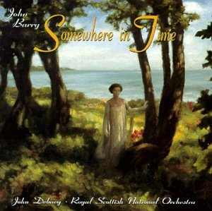 Somewhere In Time (1998 Re-recording) <br> You can hear the beautiful redition of Rachmaninoff's Rhapsody on a Theme of Paganini , along with John Barry's score here