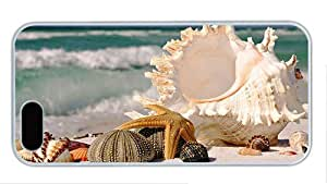 Hipster pretty iphone 5S cases beach seashells PC White for Apple iPhone 5/5S