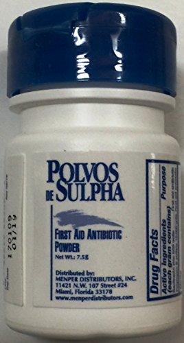 Powder First Aid - Polvos de Sulpha 7.5 gm.69 oz. First Aid Antibiotic Powder