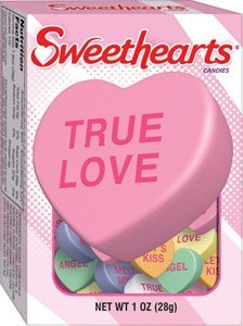Sweethearts Conversation Candy, 12 - 1oz Boxes (Sweet Heart Sweets)