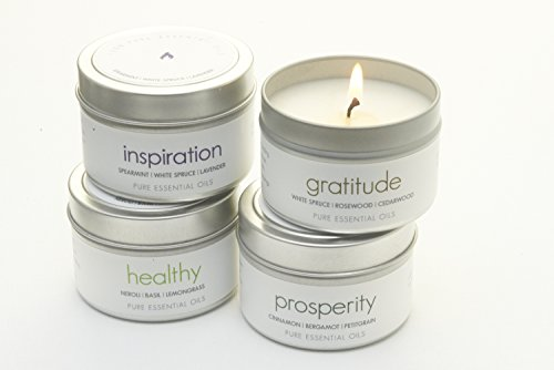 The Pure Candle * Healthy Vegan Candle * Aromatherapy Soy Candle - INSPIRATION Soy Candle, Scented Candle with Lavender, Eucalyptus, Sage Pure Essential Oils Candle, Made in USA, VEGAN Certified by The Pure Candle (Image #1)