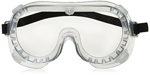 Crews 2230R Chemical Splash Goggle w/ Indirect Ventilation and Adjustable Strap, Clear