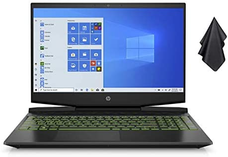 "2021 New HP Pavilion 15.6"" FHD Gaming Laptop Computer, Intel Quad-Core i5-9300H, 16GB RAM, 256GB SSD + 1TB HDD, Backlit Keyboard, B&O Audio, Webcam, GeForce GTX 1650 Graphics, Win 10 + Oydisen Cloth"