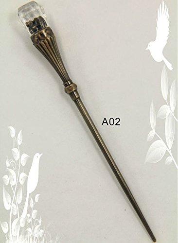 oumosi Acero Inoxidable fruta Tenedor Vintage Cubiertos Bronce A02: Amazon.es: Hogar