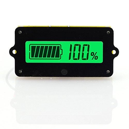 ToToT LY4 Battery Capacity Tester Monitor Voltage-Type LCD Digital Display Power Module Indicator For 12V 24V 36V 48V Lead Acid Battery 3-15cells Lithium-Ion Battery Green Light