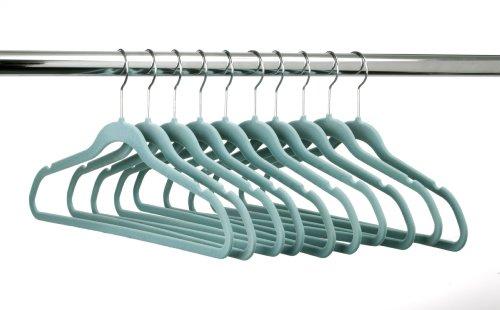 ULTRA-SLIM VELVET SUIT HANGERS - SET OF 10- Teal by HangerShop