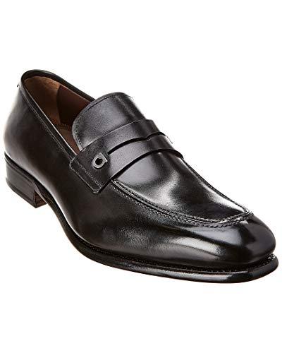 - Salvatore Ferragamo Gancini Leather Loafer, 7.5 Ee, Black