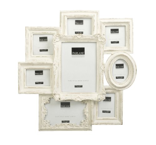 Shabby Chic Baroque Style Multi Photo Frame In Cream - Wall Hanging ...